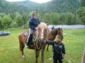 Люба на коняшке