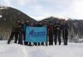 Команда Альтаир-Алтай на вертолётной площадке