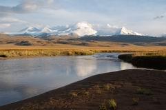 Река Калгуты и массив Табан-Богдо-Ола
